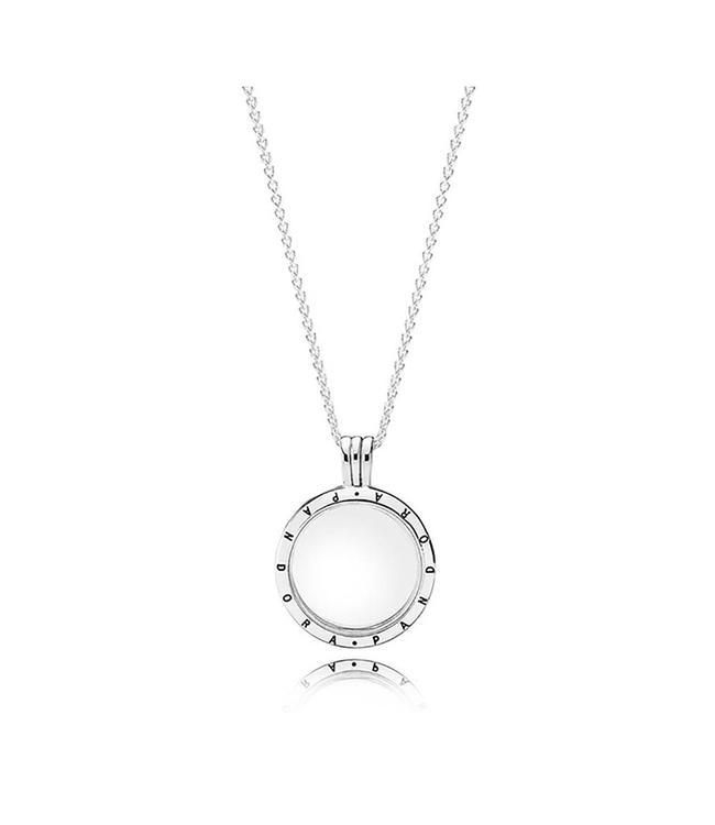 Pandora Medium floating locket silver pendant and necklace 590529