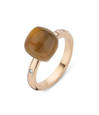 Bigli ring Mini Sweety Cognac quartz with Mother of pearl 20R88Rcgnmp