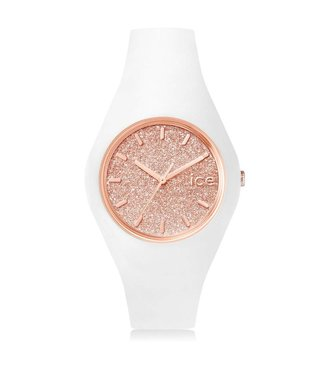 Ice Watch ICE glitter - White Rose-Gold - Medium - 001350
