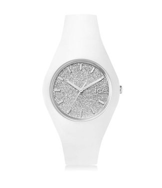 Ice Watch Ice Glitter - White Silver - Medium 001351