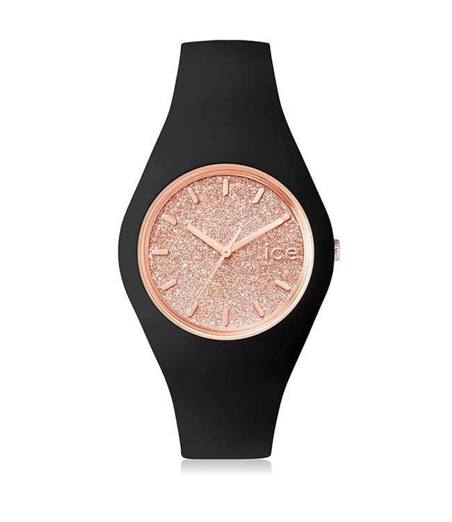 Ice Watch Ice Glitter - Black Rose gold - Medium - 001353