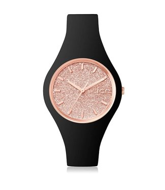 Ice Watch Ice Glitter - Black Rose gold - Small - 001346