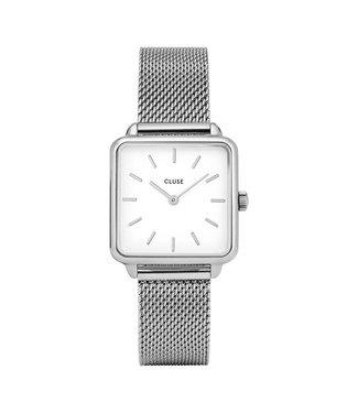 Cluse La Tétragone Silver/White Mesh CL60001