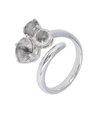 Milano 950 Sforzesca Trio Gemstone Wrap ring WSMI00156GQ