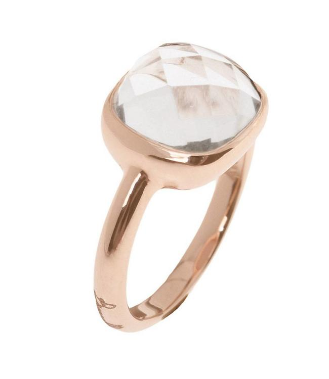 Bronzallure Sparkling Faceted Gemstone ring WSBZ00094C