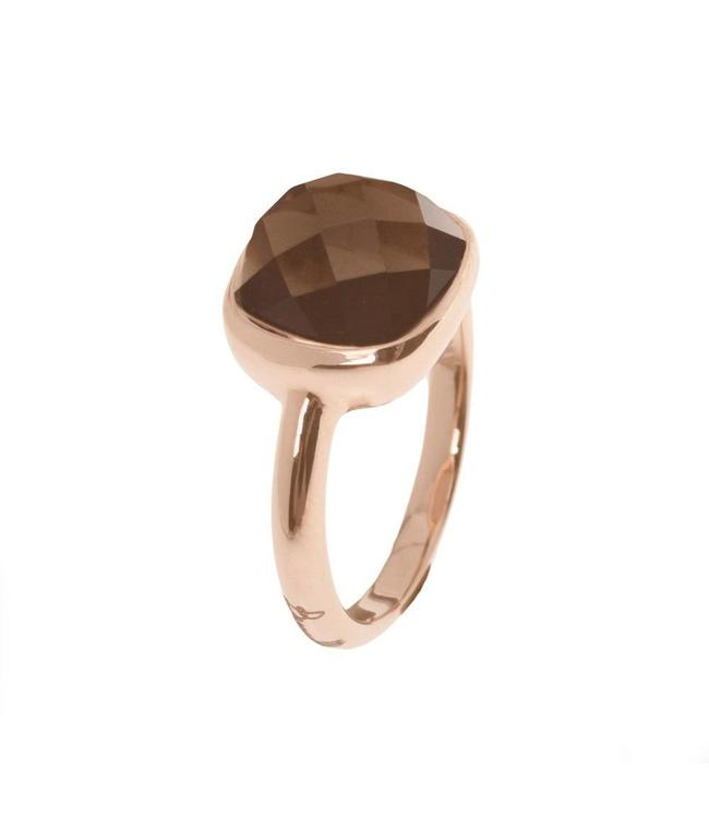 Bronzallure Sparkling Faceted Gemstone ring WSBZ00094S