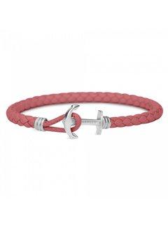 Paul Hewitt Anchor Leather Bracelet Raspberry  PH-PHL-L-S-RB