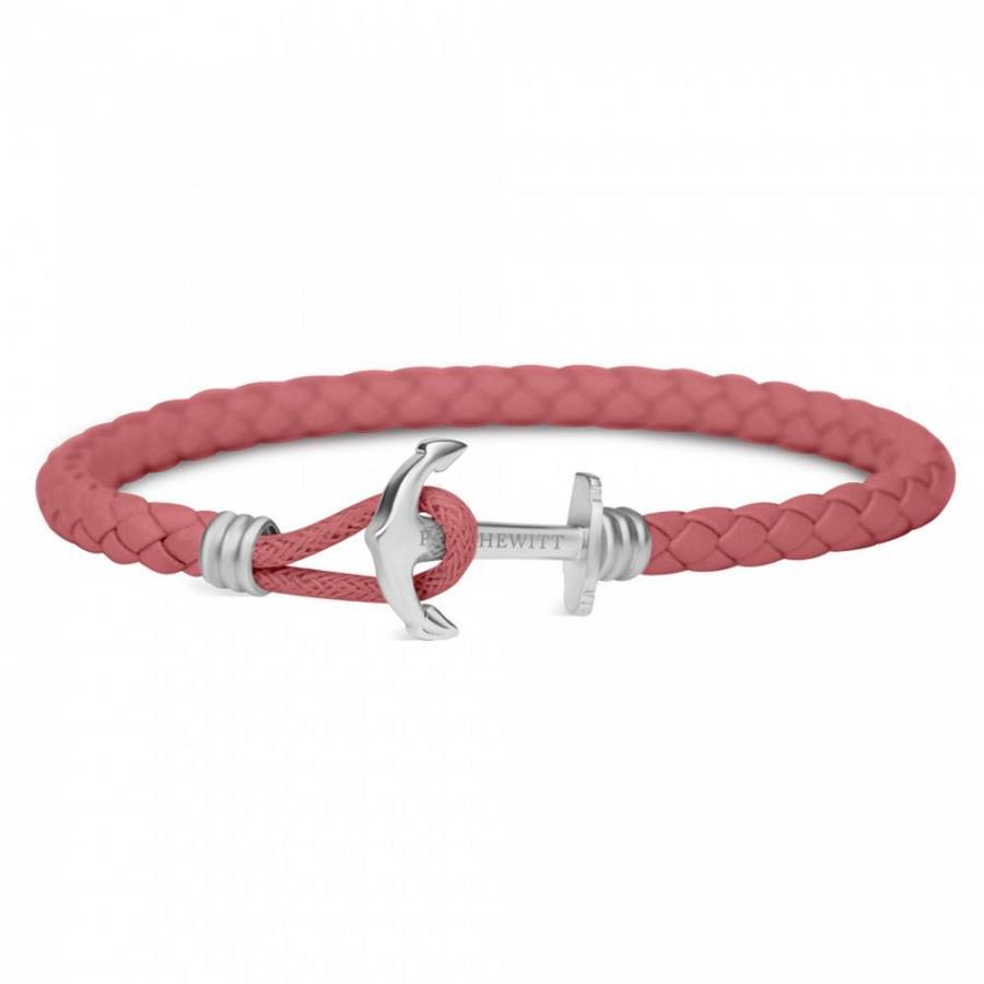 Anchor Leather Bracelet Raspberry  PH-PHL-L-S-RB