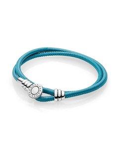 Pandora Leather bracelet double turquoise 597194CTQ