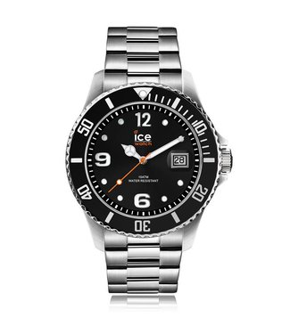 Ice Watch Ice Steel - Black - Silver Large 016032