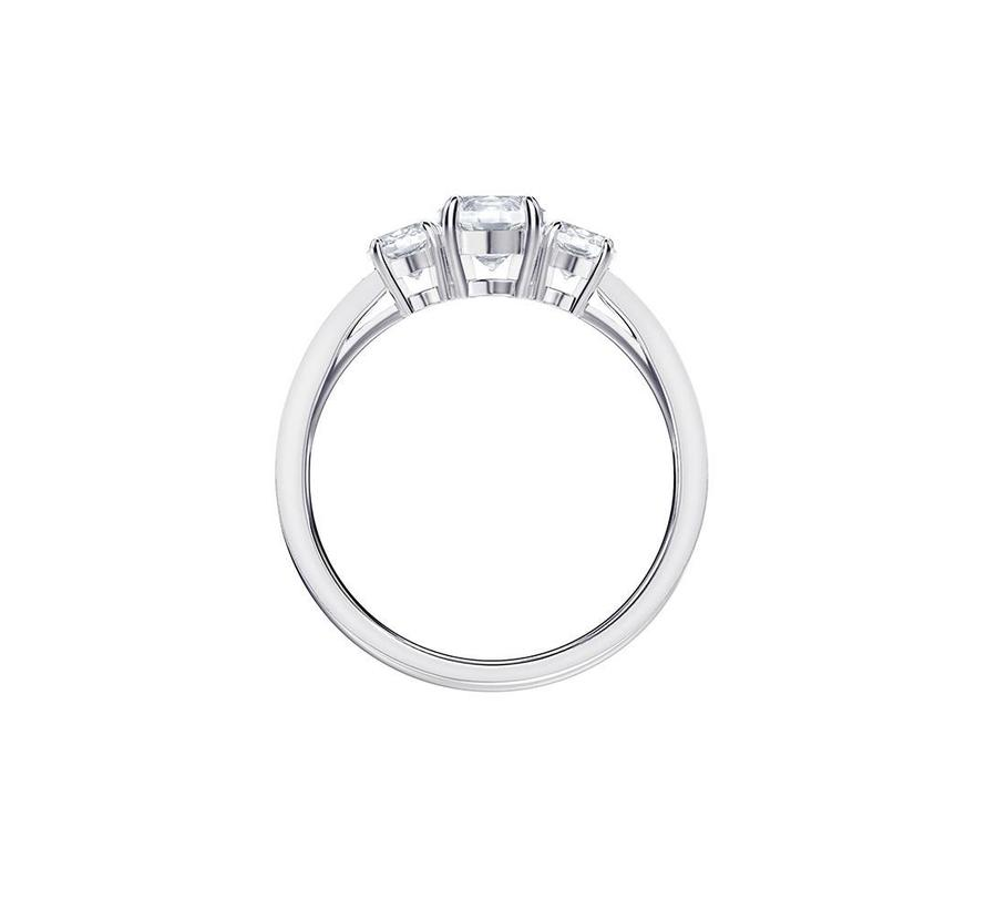 Attract Trilogy ring round silver