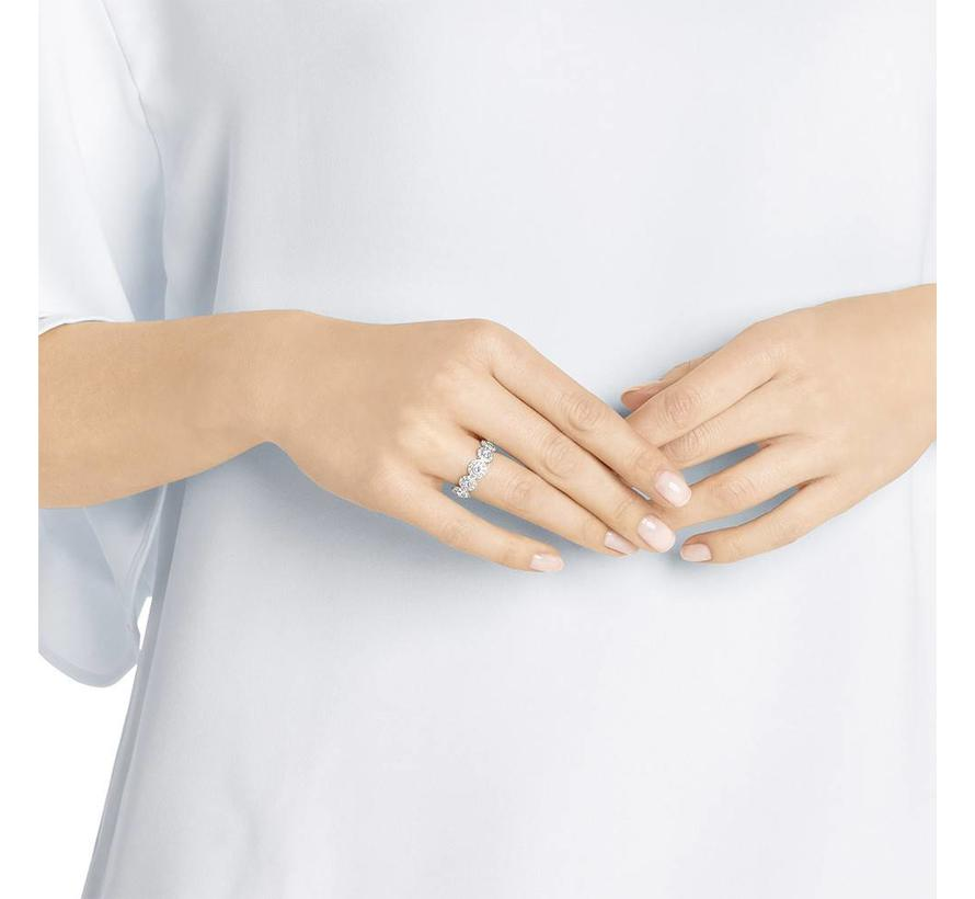 Angelic ring band silver