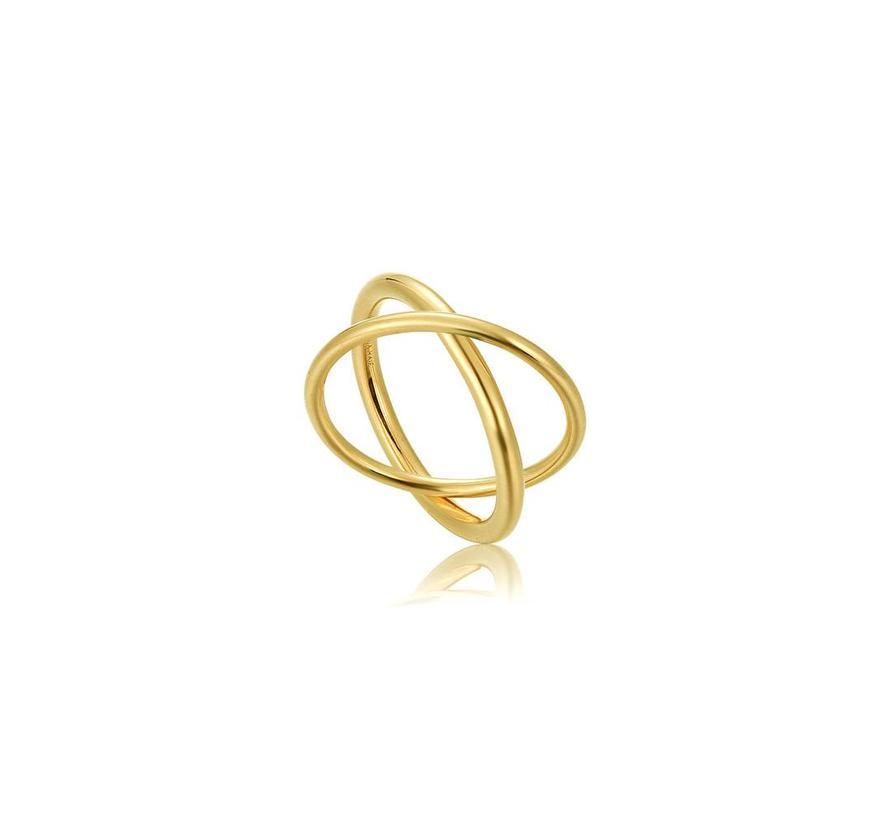 Modern minimalism double wrap ring R002-01G