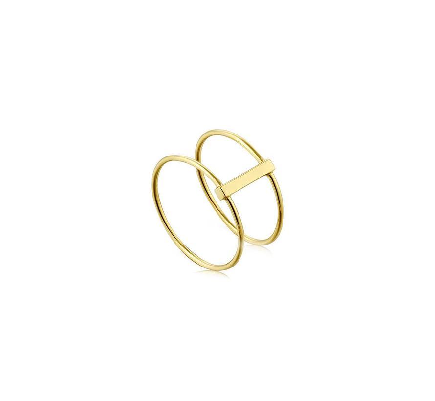 Modern minimalism double ring R002-05G