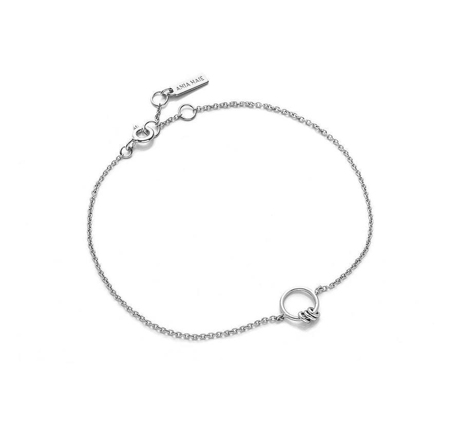 Modern Minimalism Chain Circle bracelet silver B002-02H