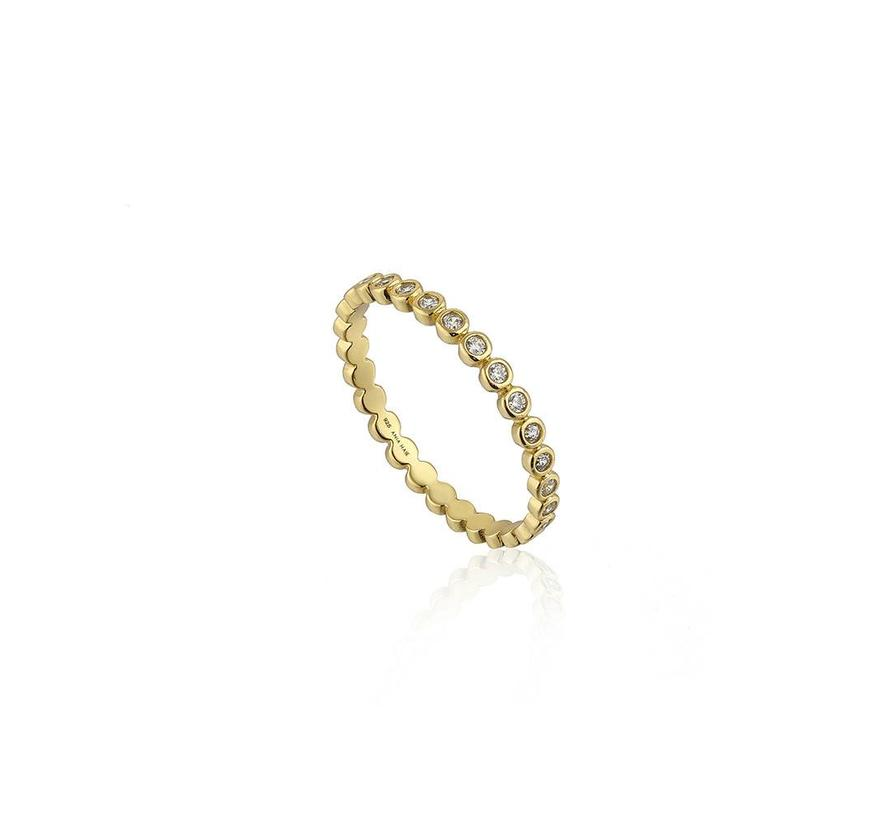 Touch of Sparkle band ring R003-01G