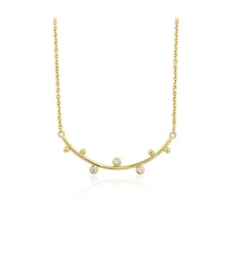 Ania Haie Touch of Sparkle Stud double necklace gold N003-01G