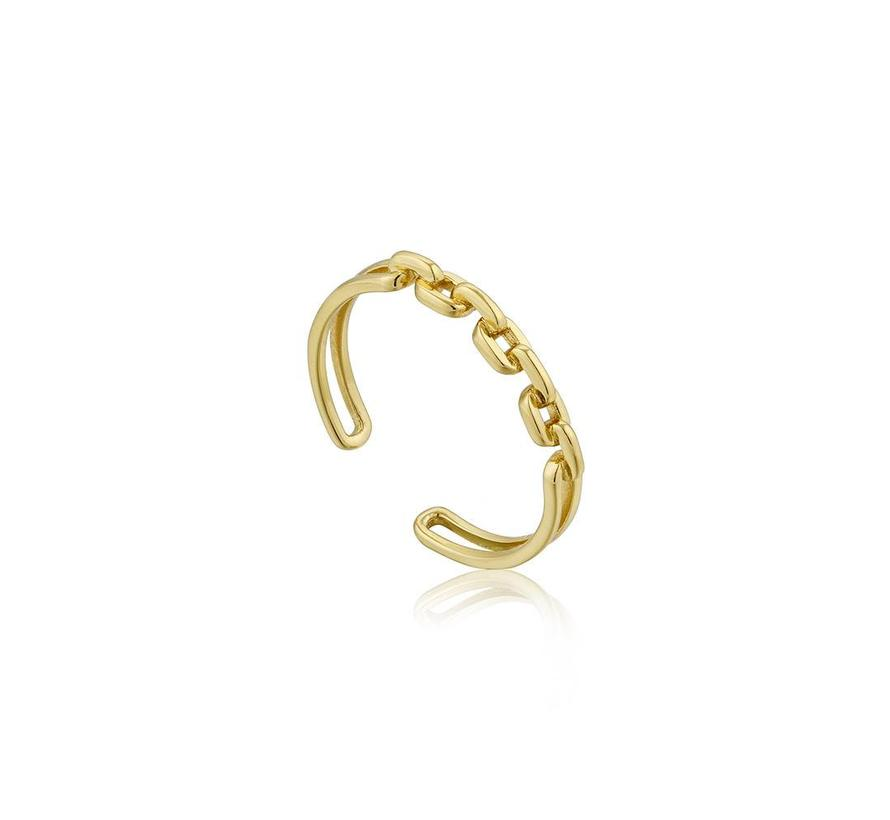 Links Double open ring one size R004-03G