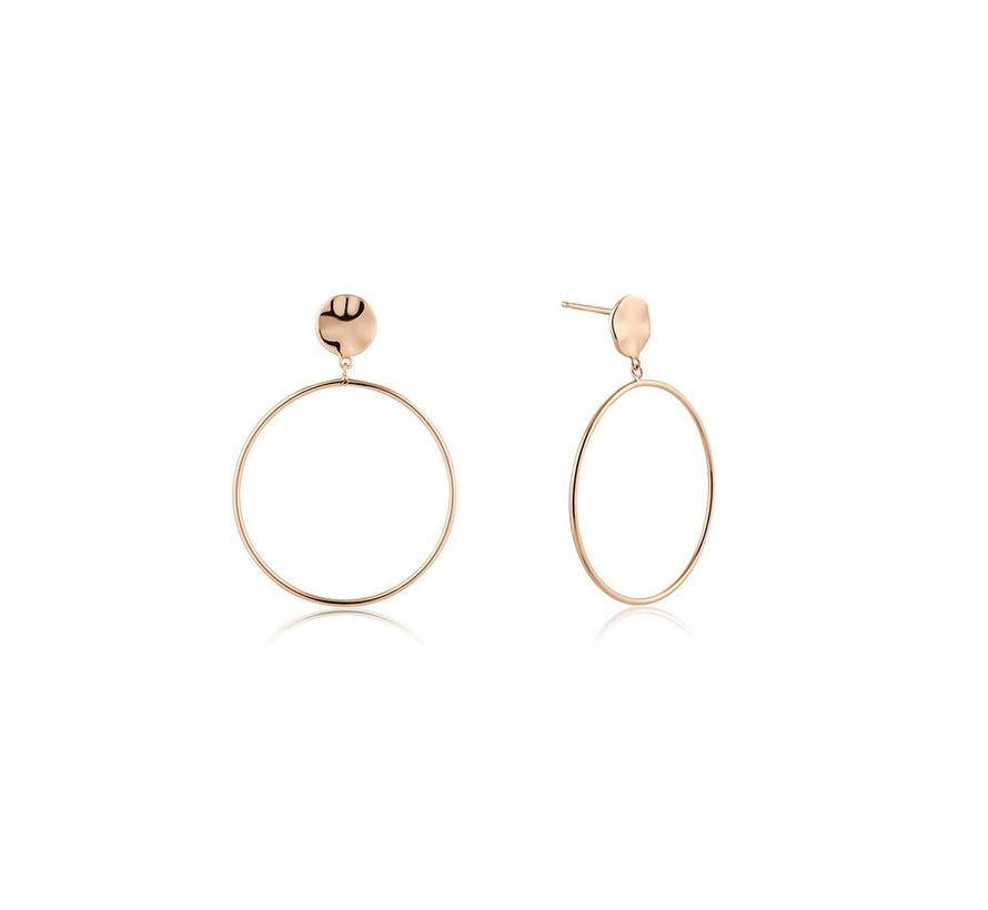 Texture Mix Front Hoop earrings E007-06R