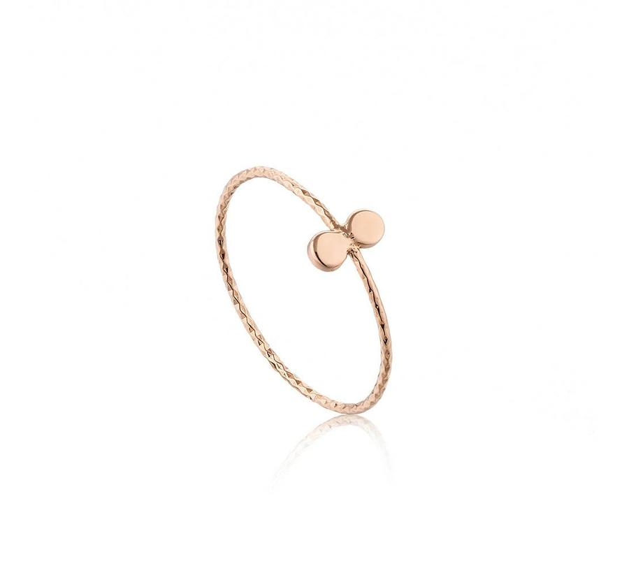 Texture mix double dot ring R007-02R