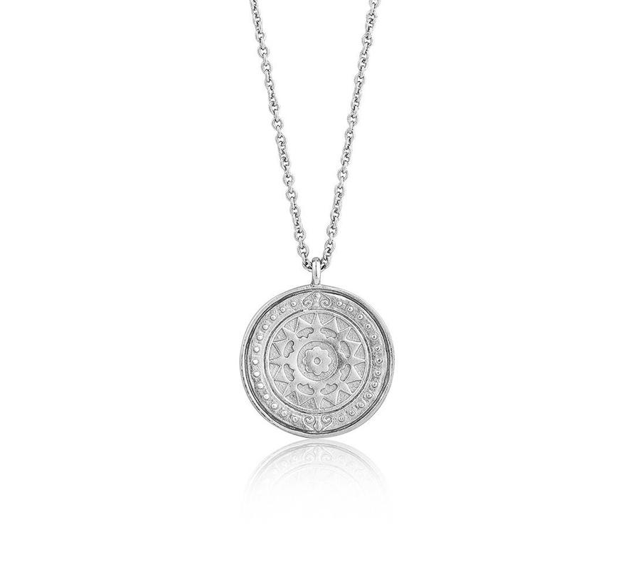 Coins Verginia Sun necklace silver N009-05H