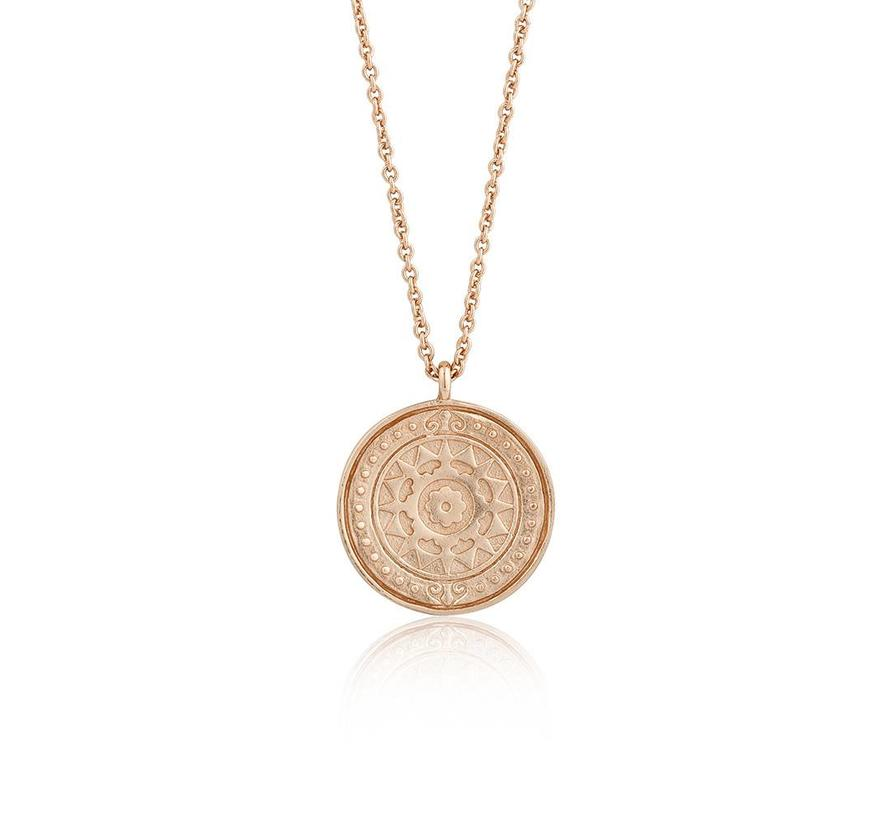 Coins Verginia Sun necklace rose gold N009-05R