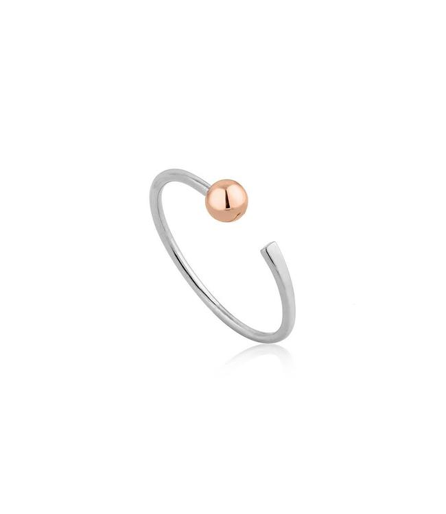 Ania Haie Out of This World Open Flat ring silver one size R001-02T