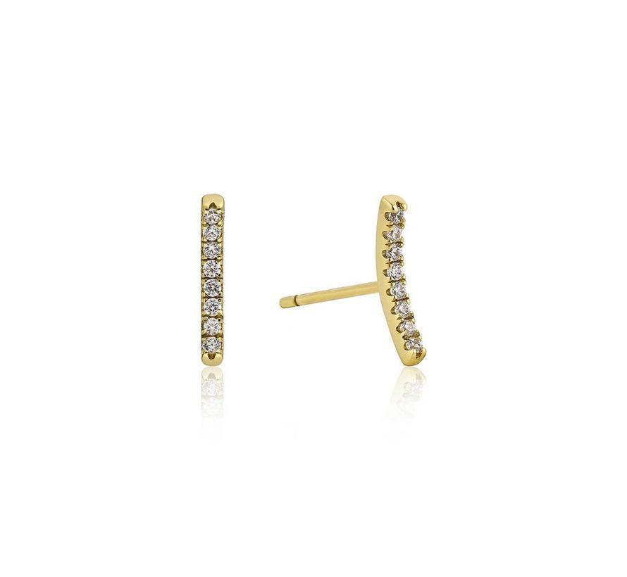 Touch of Sparkle Bar earrings E003-06G