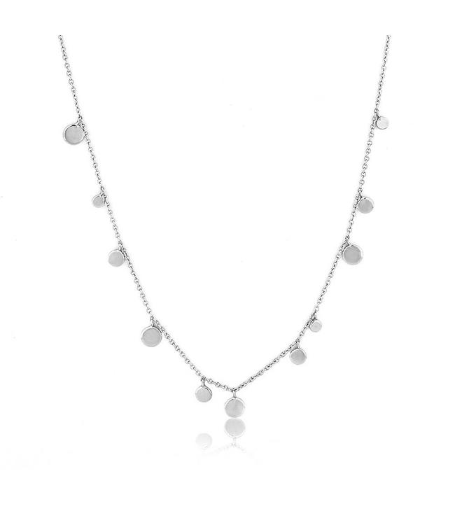 Ania Haie Geometry Class - Mixed Disked necklace silver N005-01H