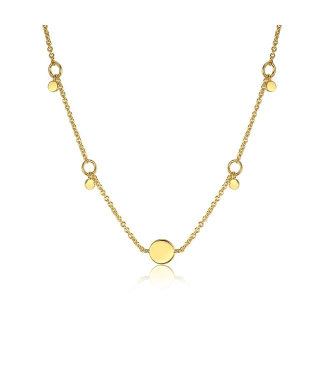 Ania Haie Geometry Class Circle pendant necklace gold N005-03G