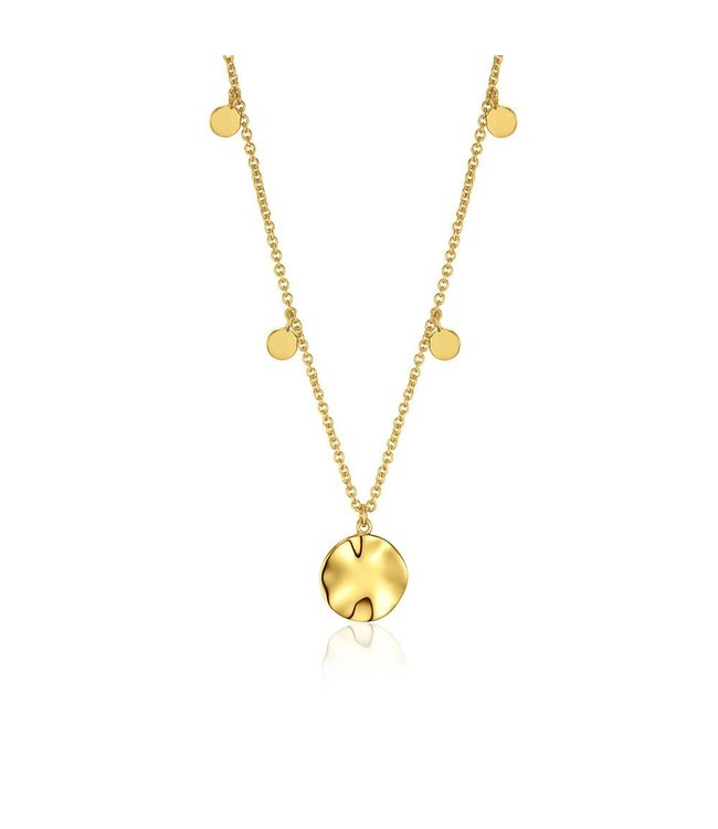 Ania Haie Texture Mix Chain pendant necklace gold N007-04G