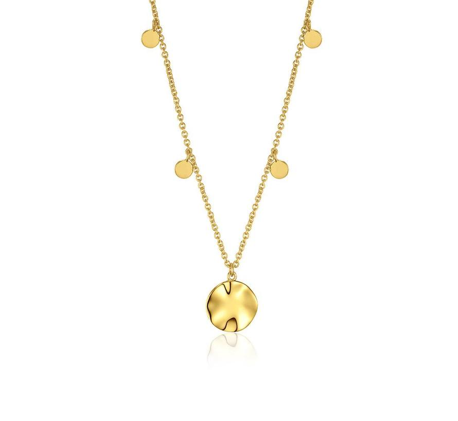 Texture Mix Chain pendant necklace gold N007-04G