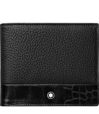 Montblanc Meisterstuck Soft Grain Wallet 6cc Combi Black 118752