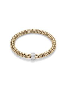 Fope armband geelgoud Flex'It Eka 704B PAVE