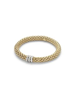 Fope armband geelgoud Flex'It Love Nest 451B Pavem