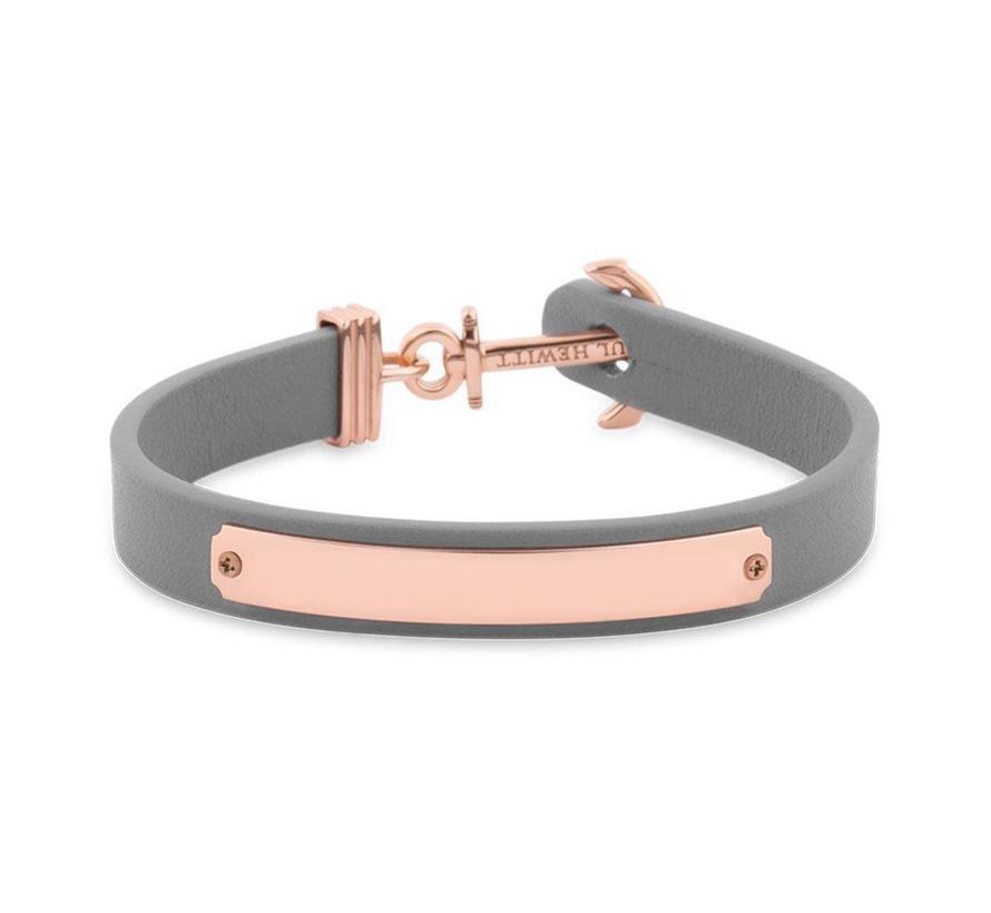 Anchor bracelet Signum Engraving Rosegold Grey PH-FSC-R-GR-BL