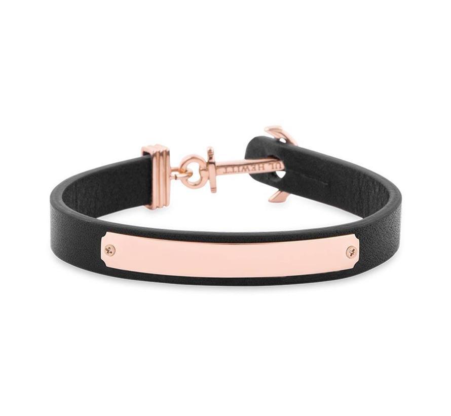 Anchor bracelet Signum Engraving Rosegold Black PH-FSC-R-B-BL