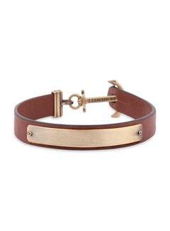 Paul Hewitt Anchor bracelet Signum Engraving Brass Brown PH-MSC-M-BR-BL
