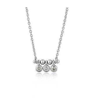 Ania Haie Touch of Sparkle Tripple Stud necklace silver N003-03H