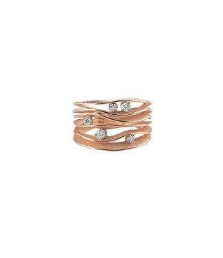 Annamaria Cammilli ring Essential Dune rose gold GAN0914P