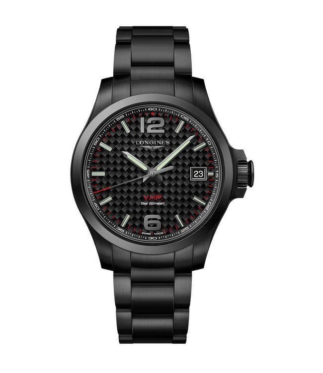 Longines Conquest V.H.P Carbon Fiber heren horloge L3716266