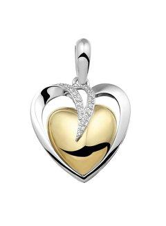 See You Gedenksieraden hanger Hart Silver/Gold plated 110 SB Silver