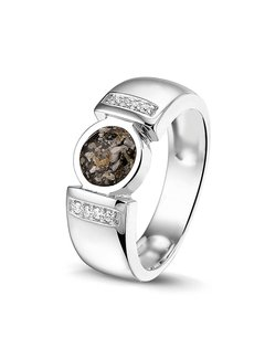 See You Gedenksieraden ring Zircon RG 022 Silver