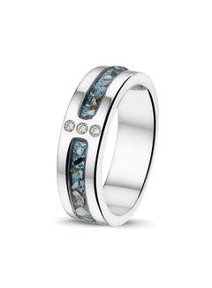 See You Gedenksieraden ring Zircon RG 024 Silver