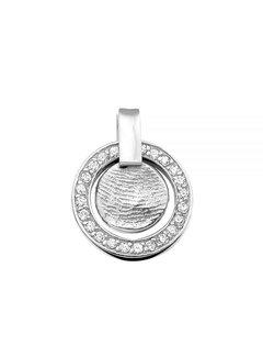 See You Gedenksieraden hanger Fingerprint 401 SZ Silver/Zirconia
