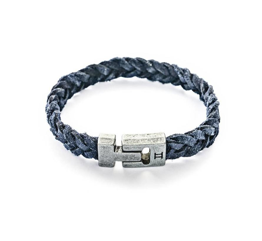 Leather Navy Blue