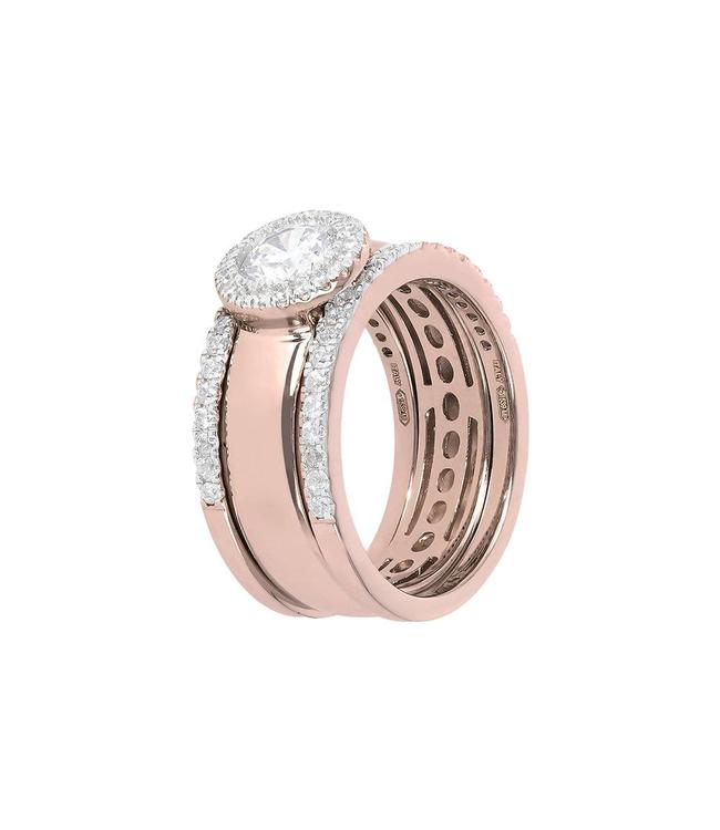 Bronzallure Trio Stackable Bands & Bezel ring WSBZ01150.WR