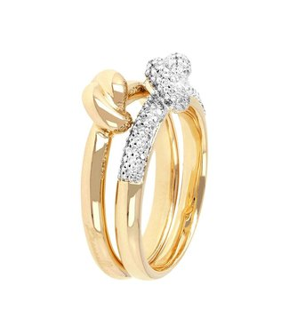 Bronzallure Romanze Set Knotted rings WSBZ00554Y.WY