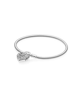 Pandora Moments Smooth silver Padlock bracelet 597602