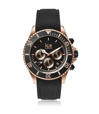 Ice Watch Ice Steel Chrono Black Rose-gold Large 016305